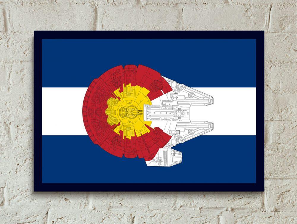 Colorado Millennium Falcon poster