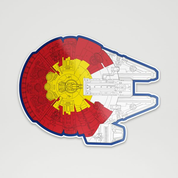 Colorado Millennium Falcon sticker
