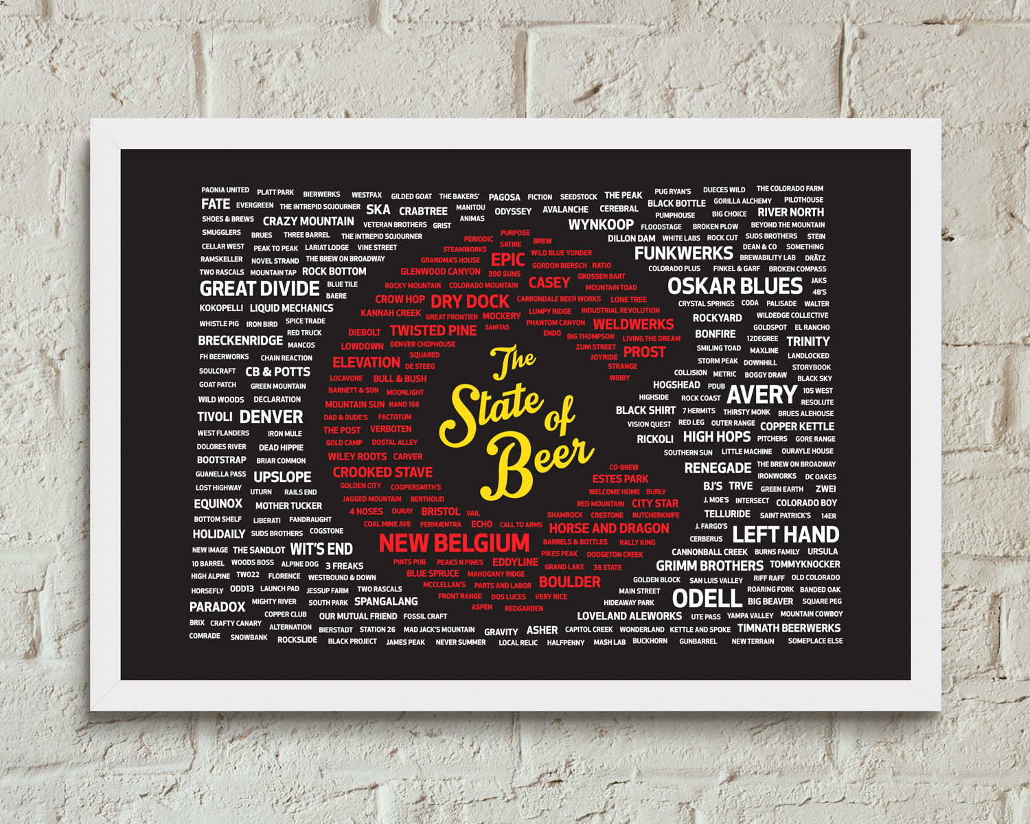 Colorado The State Of Beer Poster High Altitude Apparel