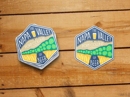 Napa valley of beer sticker