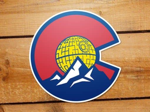 Colorado Death Star sticker