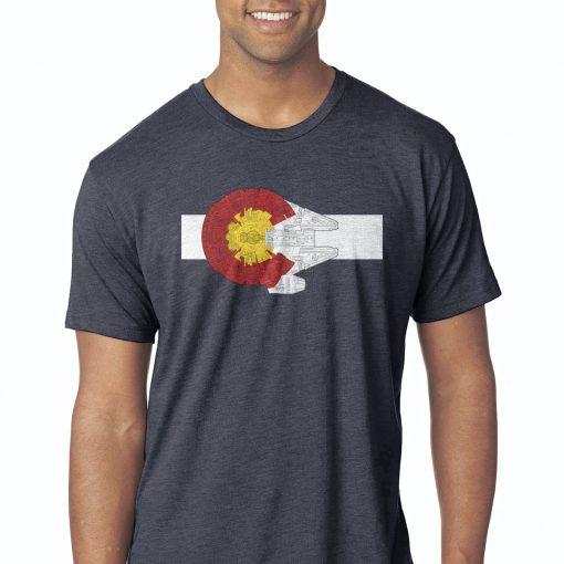 Colorado Millennium Falcon blue shirt
