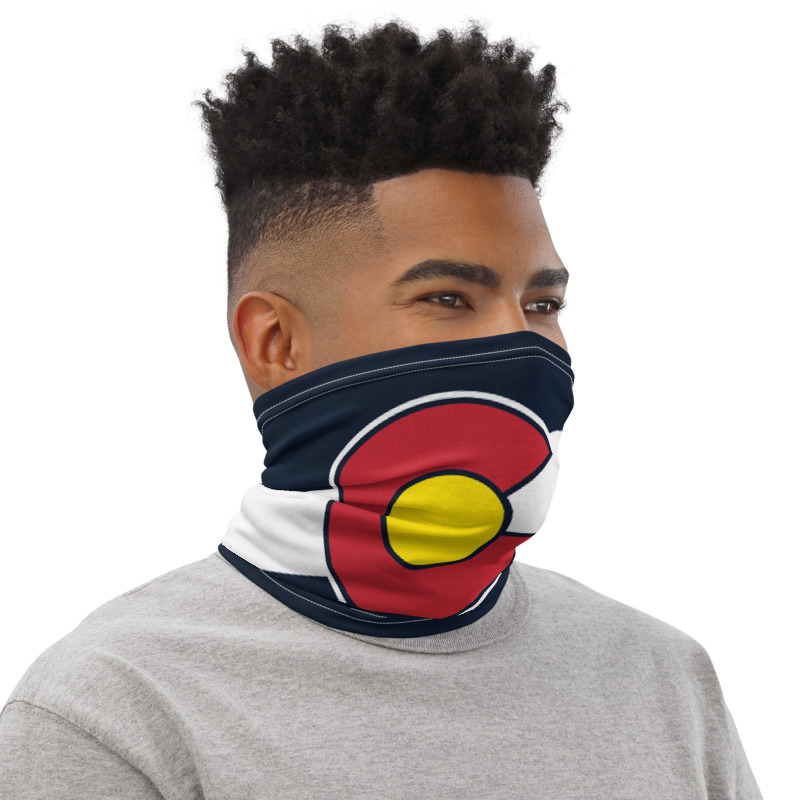 Colorado flag face neck mask
