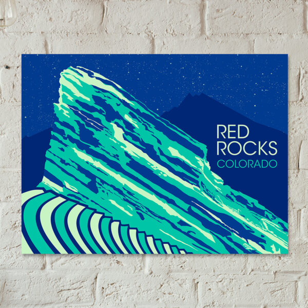 Red Rocks Colorado Poster