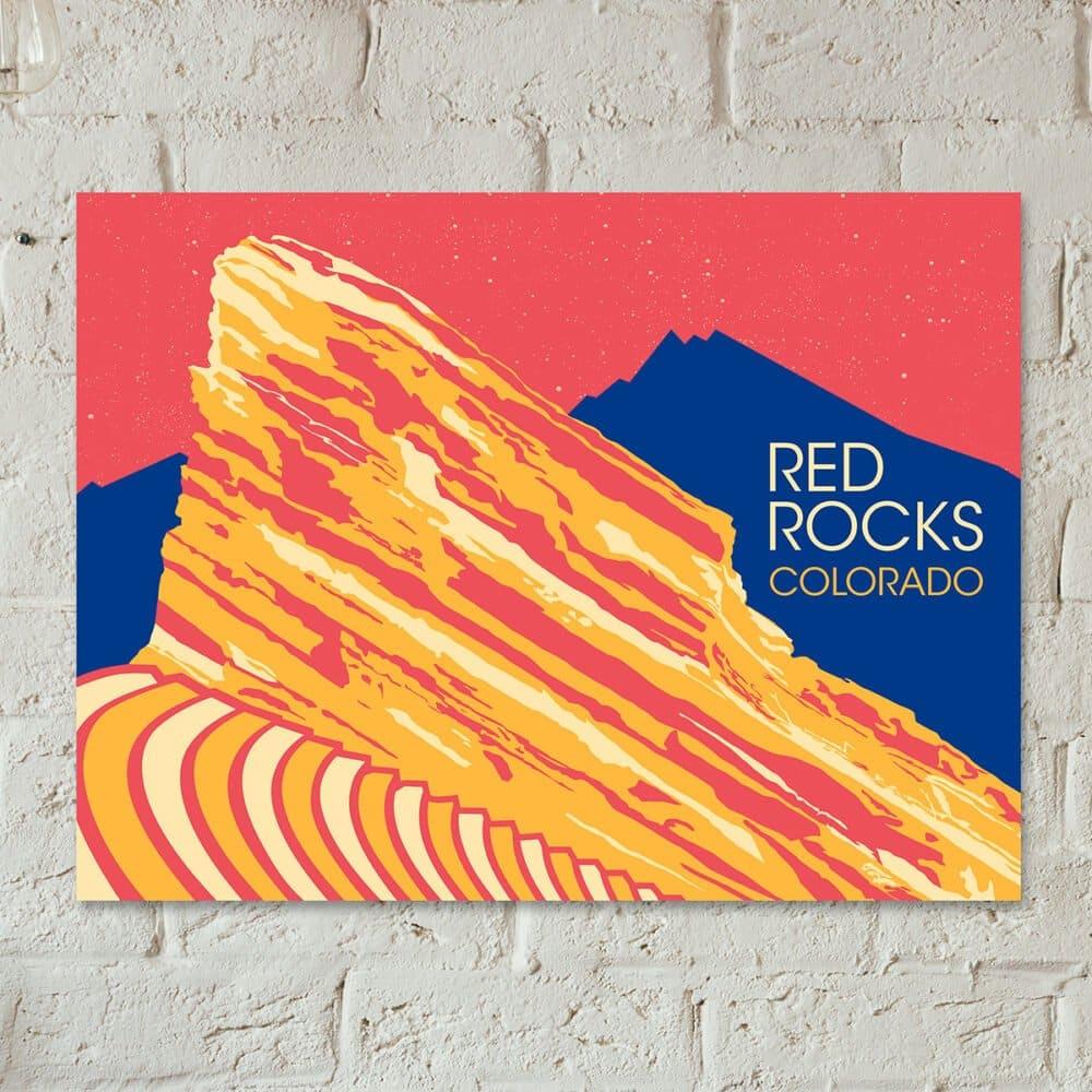 Red Rocks Colorado Poster