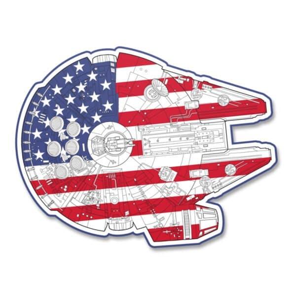 United States Millennium Falcon Sticker